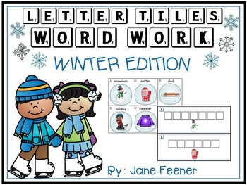 Winter Word Work using Letter Tiles