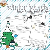 Winter Words Writing Practice Trace Write Build and Use It