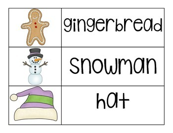 Winter Word and Picture Cards