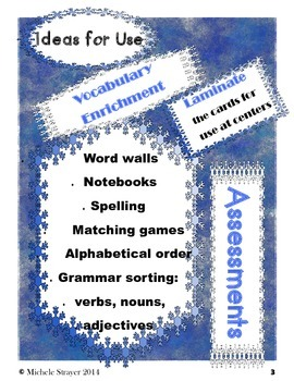 Winter Word  and Picture Match
