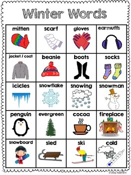 Winter Word bank
