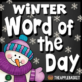 Winter Word of The Day Word Wall and Printables for Grades 3-5