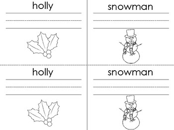 Winter Words: A Vocabulary Booklet