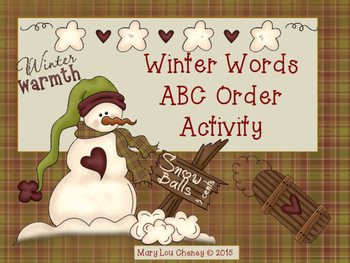 Winter Words ABC Order Activity