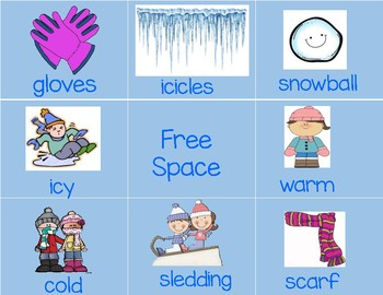 Winter Words Activities--- Ready to Print