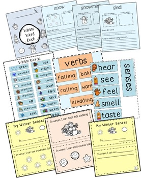 Winter Words Activity Pack
