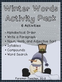 Winter Words Activity Packet