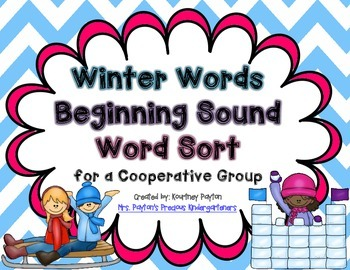 Winter Words Beginning Sound Word Sort Cooperative Group