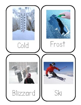 Winter Words Flashcards *Real Photos!