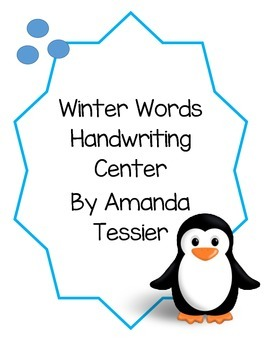 Winter Words Handwriting Center
