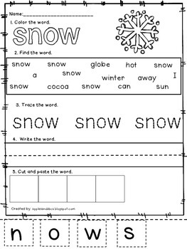 Winter Words: Learn to write!