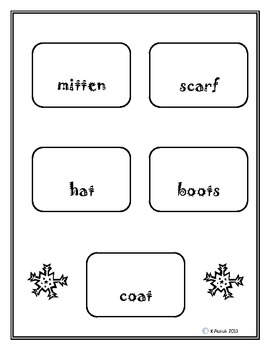 Winter Words Literacy Centers