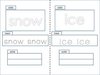 ESL Activity: Winter Words Little Book- ELL Newcomers Too!
