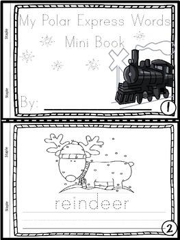 Winter Words Mini Books (Set of 3 Books-Christmas/Polar Express/Winter)