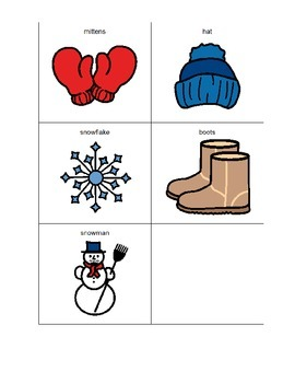 Winter Words Pre-K Dictionary