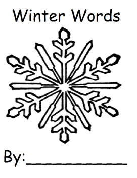 Winter Words Printable Book
