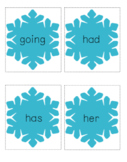 Winter Words - Sight Word Card Game - Dolch 1st Grade Set