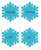 Winter Words - Sight Word Card Game - Dolch 2nd Grade Set