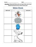 Winter Words- Stamp first sound and last sound