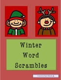 "Winter ""Up-Words"" Word Scramble Activities"