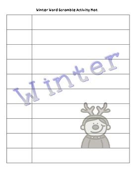 """Winter """"Up-Words"""" Word Scramble Activities"""