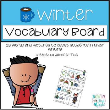 Winter Words Vocabulary Board