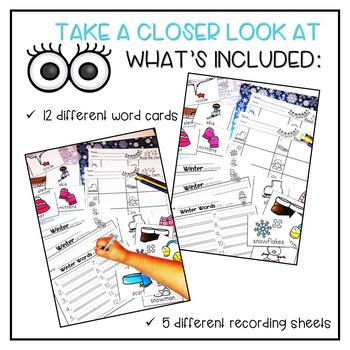 Winter Words Vocabulary/Read the Room Activity