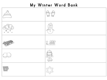 Winter Words Write the Room
