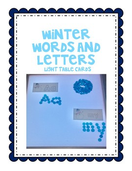 Winter Words and Letters
