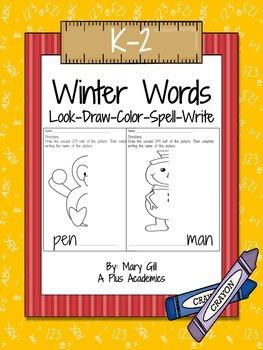 First / Second Grade - Winter Words