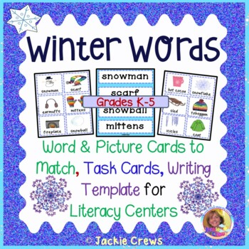 Winter Words for Pocket Charts (Feedback is Wonderful)