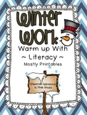 Winter Work ~ Warm Up With Literacy ~ Mostly Printables