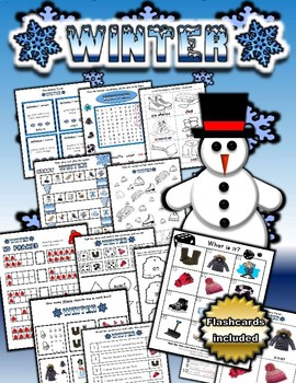 Winter Math and Literacy Workbook (50 pages)