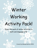 Winter Working Activity Pack!