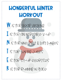 Winter Workout- for the classroom or therapy :)