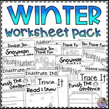 Winter Worksheet GROWING Pack!