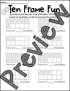 Winter Worksheet Pack!