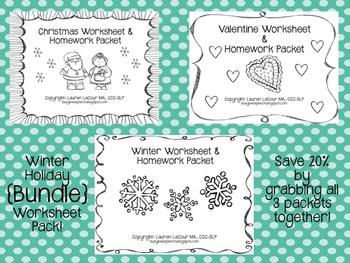 Winter Worksheet & HW {{BUNDLE}}