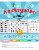 SALE! Kindergarten/ 1st-Winter Worksheet Pack- Grade Winter Decorated Worksheets