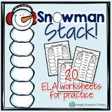 20 ELA Winter Worksheets
