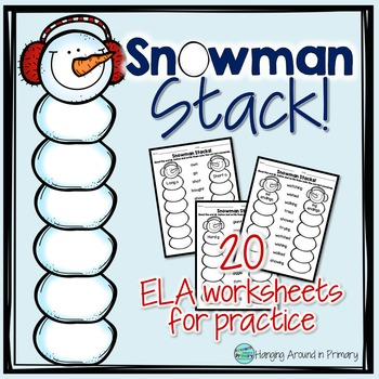 Winter Worksheets with Word Sorts