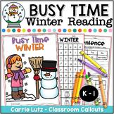 Winter Reading Activities | First Grade Winter Reading Worksheets