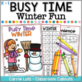 Winter Worksheets {A No-Prep Winter Activity Packet}