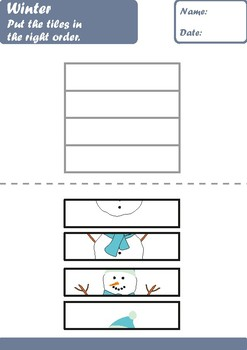 Winter Worksheets Age 5-6