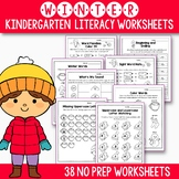Winter Activities For Kindergarten (Literacy No Prep)