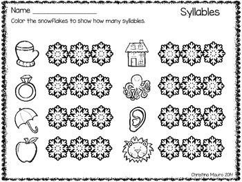 Winter Printables {Literacy}