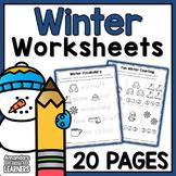 Winter Worksheets - No Prep Math and Literacy