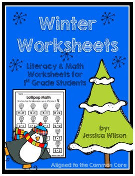 Winter Worksheets for 1st Grade Aligned to Common Core