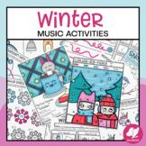 Winter Music Activities & Worksheets