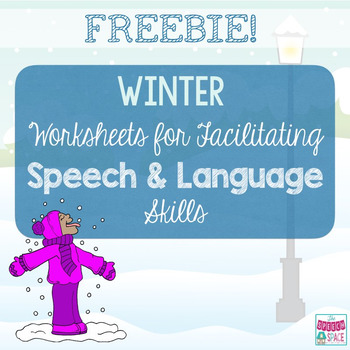Winter Worksheets for Speech & Language